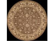 Nourison 62780 Somerset Area Rug Collection Taupe 5 ft 6 in. x 5 ft 6 in. Round