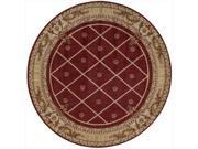 Nourison 32101 Ashton House Area Rug Collection Sienna 5 ft 6 in. x 5 ft 6 in. Round