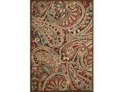 Nourison 13239 Graphic Illusions Area Rug Collection Multi Color 7 ft 9 in. x 10 ft 10 in. Rectangle
