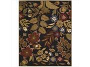 Nourison 12385 In Bloom Area Rug Collection Black 2 ft 6 in. x 4 ft Rectangle