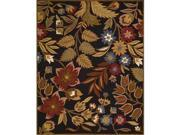 Nourison 12386 In Bloom Area Rug Collection Black 5 ft 3 in. x 7 ft 4 in. Rectangle