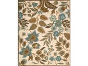 Nourison 12392 In Bloom Area Rug Collection Ivory 5 ft 3 in. x 7 ft 4 in. Rectangle