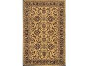Nourison 21166 India House Area Rug Collection Gold 3 ft 6 in. x 5 ft 6 in. Rectangle