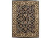 Nourison 21516 Jaipur Area Rug Collection Black 7 ft 9 in. x 9 ft 9 in. Rectangle