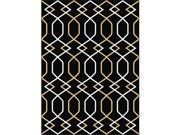 Metro 1086 Black 5.25 ft. x 7.25 ft. Contemporary Area Rug
