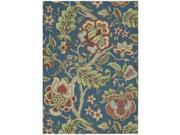 Nourison 17653 Waverly Global Awakening Area Rug Collection Sapphire 5 ft x 7 ft Rectangle