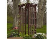 Highwood AD-ARBR1-ACE Hometown arbor - Recycled eco-friendly synthetic wood in weathered acorn color - Weathered Acorn