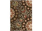 Nourison 13971 Suzani Area Rug Collection Brown 3 ft 9 in. x 5 ft 9 in. Rectangle