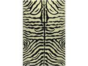 RESORT collection,  25219D, ZEBRA BROWN 5X8 Rug