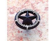 JVJHardware 06224 Lone Star .5 in. Diameter Ornamental Star Knob - Oil Rubbed Bronze - Silver