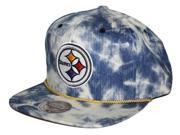 Mitchell & Ness CG-NS52Z-FAS-PS Pittsburgh Steelers Mitchell & Ness Blue Acid Wash Denim Snap Back Hat