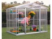 US Polymers 80311 8 ft. x 8 ft. Metal Greenhouse