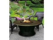California Outdoor Concepts 7010-BK-FP-SEA-42 San Simeon Chat Height Fire Pit-Black-Gas Logs-Sea Green - 42 in.
