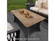 California Outdoor Concepts 4040-BK-PG3-SUN La Costa Del Rio Fire Pit-Black-Copper Glass-Sunset Gold