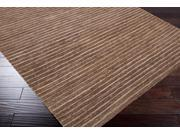 Surya Rug DOC1014-23 Natural Fiber Rectangle Dark Chocolate And Camel Hand Woven Accent Rug 2 x 3 ft.