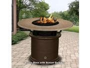 California Outdoor Concepts 2050-CB-PG7-SUN-42 Del Mar Balcony Height Fire Pit-Brown-Gold Reflective Glass-Sunset Gold - 42 in.