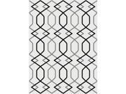 Metro 1085 White 5.25 ft. x 7.25 ft. Contemporary Area Rug