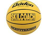 Baden BHT7R-00-F SkilCoach Official Heavy Trainer Yellow Rubber Basketball Size 29.5 in.