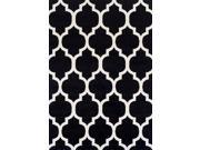 Dalyn FN960BK5X7 4 ft. 11 in. x 7 ft. Finesse Black Area Rug