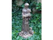 Echo Valley 4122 St. Francis Holding Deer Garden Statue