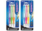 Bazic Products 724-24 BAZIC Lumiere 0.7 mm Mechanical Pencil with Grip - 3-Pack Case of 24