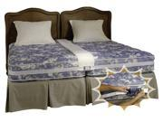 Healthex Create a King Bed-combine TWO Twin Beds Into a Secure Comfortable King Size Bed