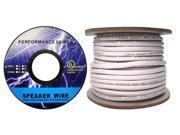 Cable Wholesale 16/2 (16AWG 2C) 65 Strand/0.16mm Speaker Cable CM / Inwall Rated Oxygen-Free White - 100 ft Spool