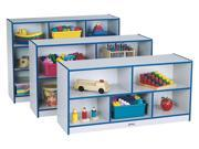 Jonti-Craft Rainbow Accents Toddler Single Wooden Multiple Shelf Toy Storage Organizer Cubby Unit Yellow