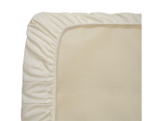 Naturepedic Organic Cotton Ivory Jersey Knit Cradle Fitted Infant Sheet