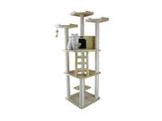 "Armarkat 80"" Wooden Step Pet Cat Tower Tree Condo Scratcher Furniture Post Play Kitten House Beige"