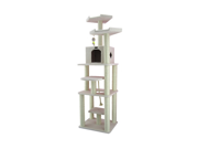 """Armarkat 78"""" Wooden Step Pet Tower Tree Condo Scratcher Furniture Post Play Kitten House - Ivory"""