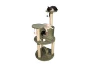 "Armarkat 60"" Ultra Thick Faux Fur Premium Condo House Pet Cat Tower Tree Furniture Dark Sea Green"