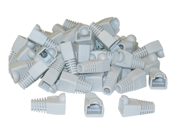 Cable Wholesale RJ45 Strain Relief Boots - Gray (50 Pcs Per Bag)