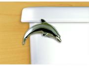FunctionalFineArt Satin Pewter Dolphin Toilet Flush Handle / Tank Lever - Angled Tank Mount