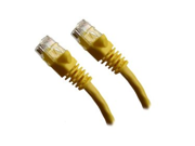 Category 5E, Yellow Ethernet Network, Patch Cable, Molded Snagless Boot, 1 feet