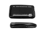 Cable Wholesale USB 2.0 All-in-one Card Reader Clear Black