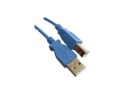BLUE - USB 2.0 Compliant A to B, 6 feet - High Speed USB Cable