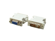 DVI-A Male to VGA HD15 Female adapter - Converts from DVI to VGA / VGA to DVI