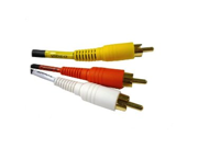 Composite Stereo Left & Right + Video 3 RCA, red, white, & yellow - 6 FT