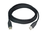 Ziotek  USB 2.0 Cable A Male To A Male, Black, 10ft