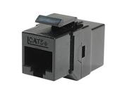 Ziotek CAT5e In-line Faceplate Coupler, Black