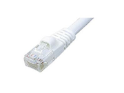 Ziotek CAT5e Enhanced Patch Cable, W/ Boot 7ft, White