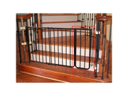 Cardinal Wrought Iron Decor Gate Extension - Black / Powder-Coated Finish