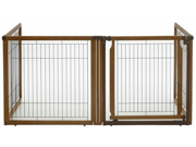 Richell 3 In 1 Convertible Elite Pet Gate With Room Divider and Pet Pen,  4 Panel