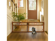Richell Mission Aztec Freestanding Pet Gate with Glass Panel