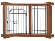 Richell Wood Pet Sitter Pet Gate With Rubber skid bottom