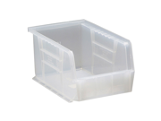 "Quantum Plastic Storage Clear-View Ultra Hang and Stack Bin 9-1/4"" x 6"" x 5"" - Pack of 12"