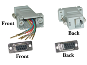 Offex Wholesale DB9 Female / RJ45 Modular Adapter - Color Gray