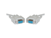 Cable Wholesale DB9 Female Serial Cable, DB9 Female, UL rated, 9 Conductor, 1:1, 10 foot