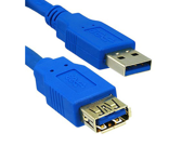 Offex USB 3.0 Extension Cable, Blue, Type A Male / Type A Female, 6 foot